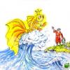 Кем захотела стать старуха из сказки о Золотой рыбке братьев Гримм?