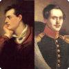 Через какого шотландского поэта гипотетически связаны родством Лермонтов да Байрон?