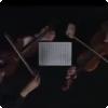 Чьи ноты могут читаться как сверху вниз, так и снизу вверх, образуя дуэт двух скрипок?