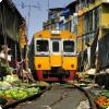 В какой стране есть рынок, прямо посередине которого проходит железная дорога?