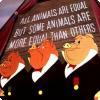 Кто инициировал изменения на мультфильме «Скотный двор» по мнению сравнению из оригинальной повестью?
