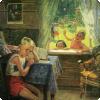 Какой советский художник любил помещать на стены изображаемых помещений репродукции других своих картин?