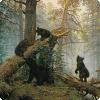 Кто помогал Шишкину изображать медведей получи картине «Утро на сосновом лесу»?